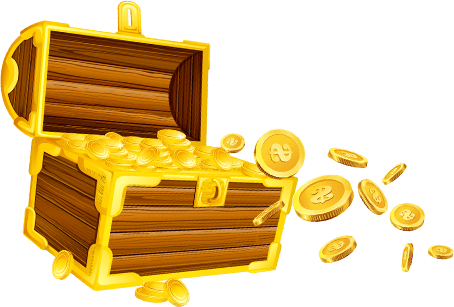 chest with gold
