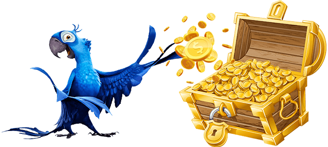 parrot with gold